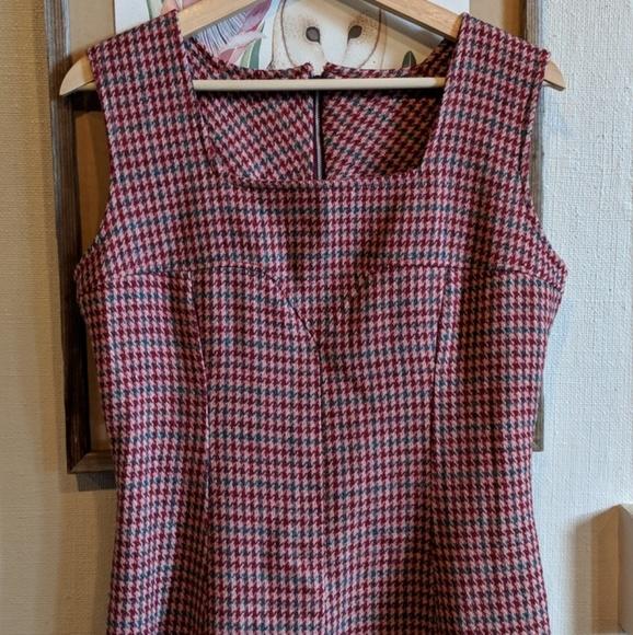 Vintage Dresses & Skirts - Vintage 60's wool houndstooth dress